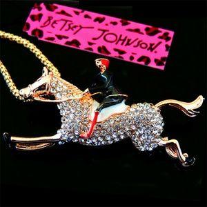 Jockey Riding Horse Brooch/Necklace - Equestrian